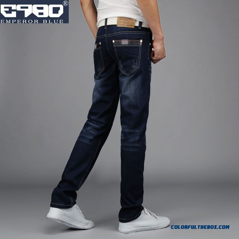 New Vogue Design Men Jeans Casual Straight Slim Long Style
