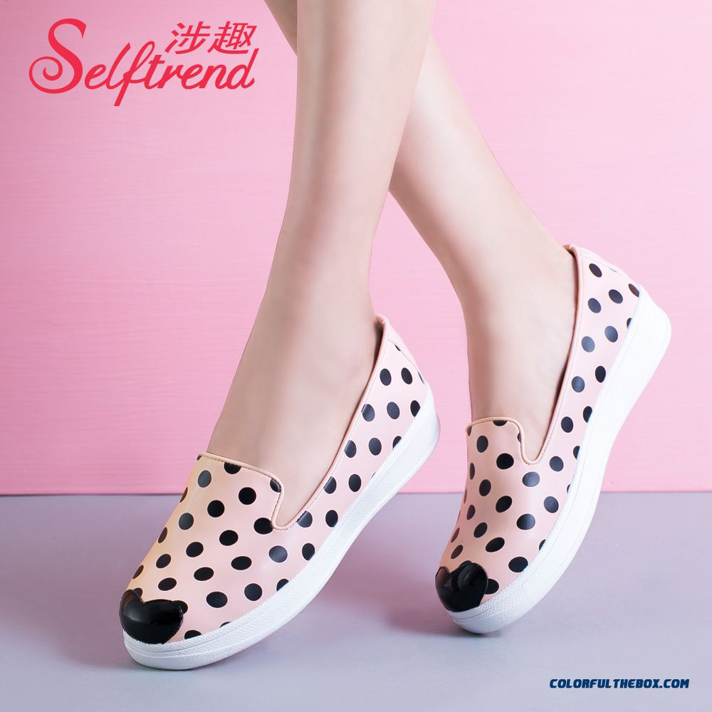 New Wave Point Lovely Flat Bottom Lazy Casual Women Shoes