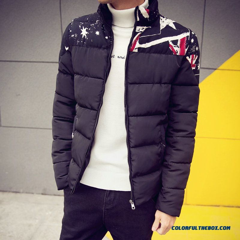New Winter Brand Fashion Men Fertilizer Increase Code Short Thicken Student