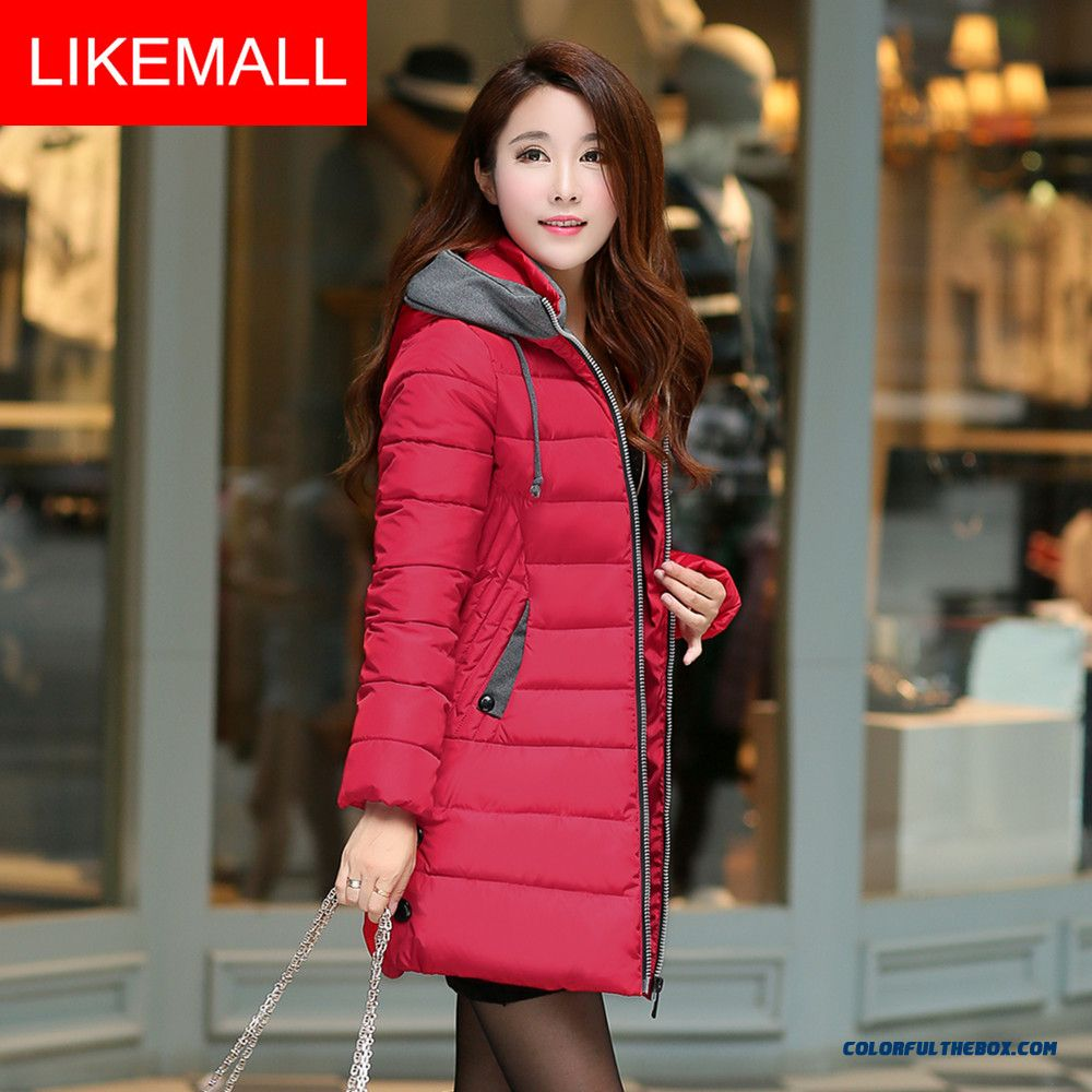 New Winter Brand Fashion Women Coat Red Green Medium Style Coat Popular In Europe