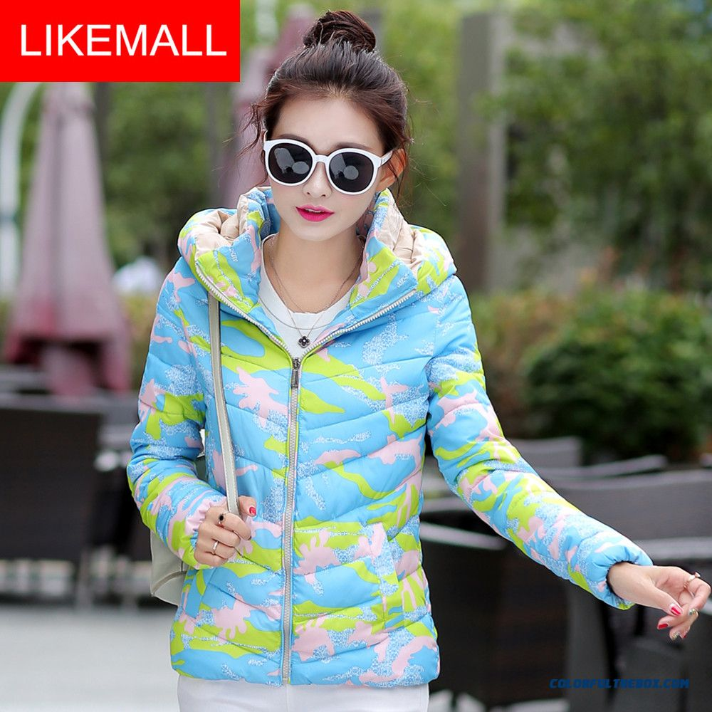Cheap New Winter Brand Fashion Women Hooded Coat Camouflage Green