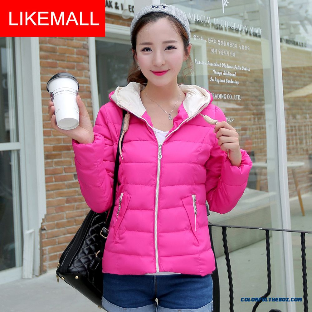 New Winter Brand Fashion Women Hooded Coat Casual Short Plus Size Cotton-padded Clothes