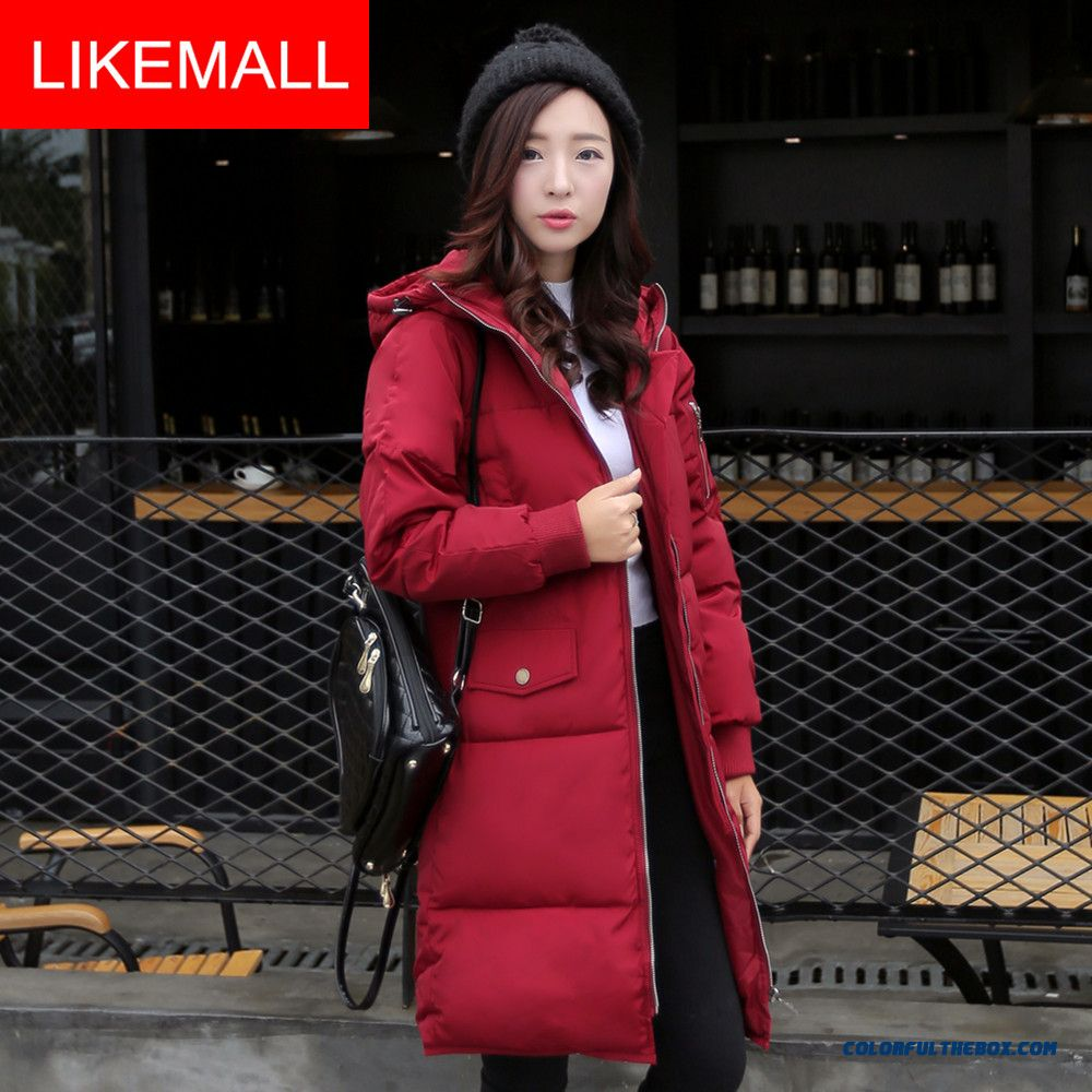 New Winter Brand Fashion Women Hooded Coat Loose Plus Size Thicken Medium Style Coat