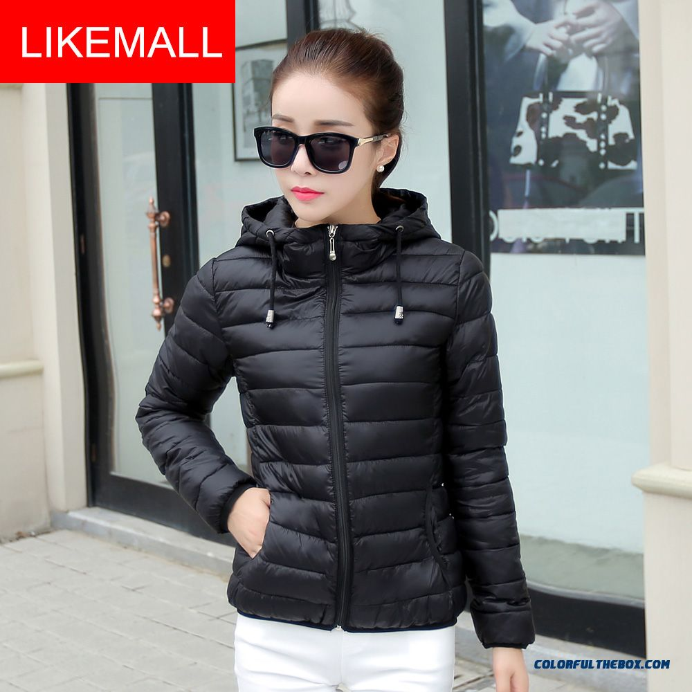 New Winter Brand Fashion Women Hooded Coat Plus Size Short Black Free Shipping