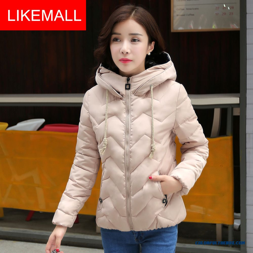 Cheap New Winter Brand Fashion Women Hooded Coat Short Blue Young