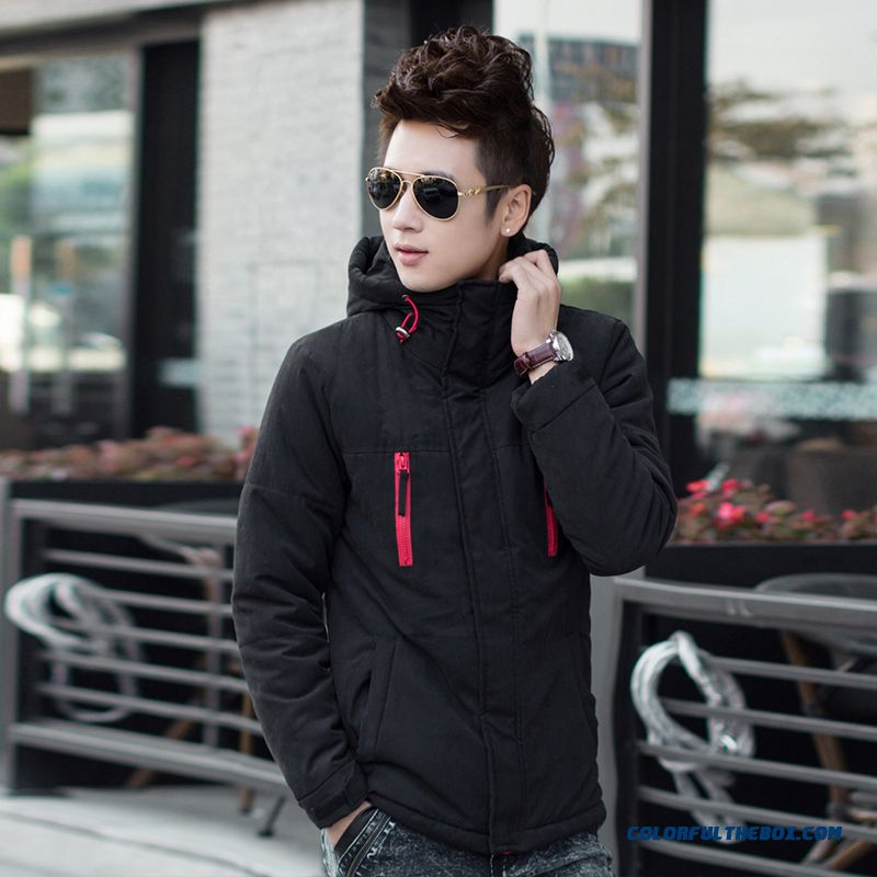 New Winter Cheap Men Solid Color Casual Slim Hooded Coat Fashion
