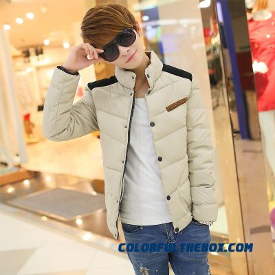 New Winter Cheap Men Stand Collar Plus Velvet Thick Coats Fashion