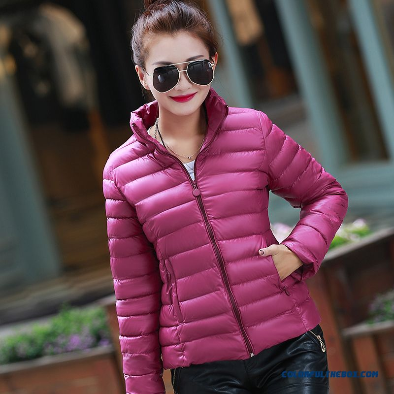 New Winter Coat Female Short Slim Down Female Deep Wine Thick Specials