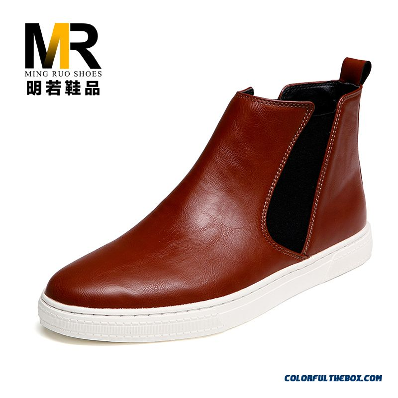 New Winter Men Shoes Top Selling Warm Fashon Ankle Boots Free Shipping