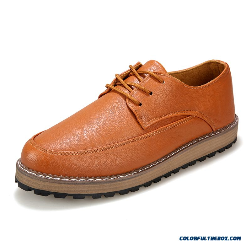 New Winter Simple And Stylish Men's Casual Shoes Thick Bottom