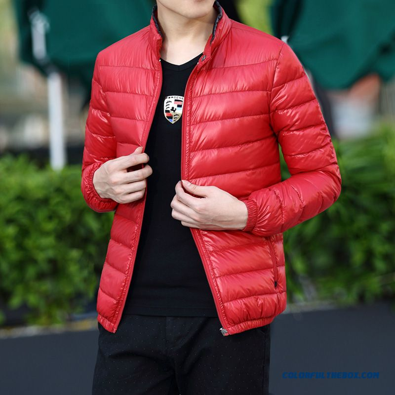 New Winter Stylethin Outwear Red Men Coats Free Shipping