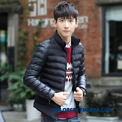 New Winter Top Sale Men Slim Thicken Larhe Size Black Cotton-padded Jacket