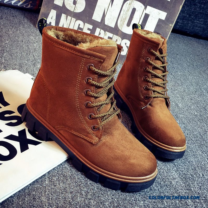 New Winter Women Snow Ankle Boot Flat Boots Women Casual Warm Thick Cotton-padded Shoes