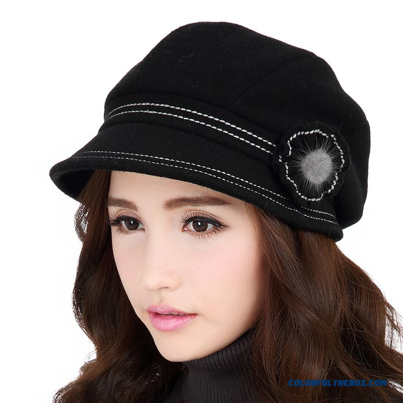 New Women Thick Warm Wool Winter Hat Fashion Casual Ladies Berets Exclusive  Design Sales f66f2a6450