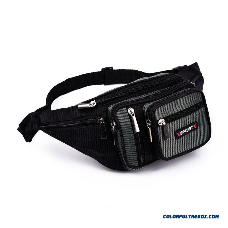 Newe Oxford Cloth Waterproof Waist Packs!!! Multilayer Men Waist Packs Trip Bags