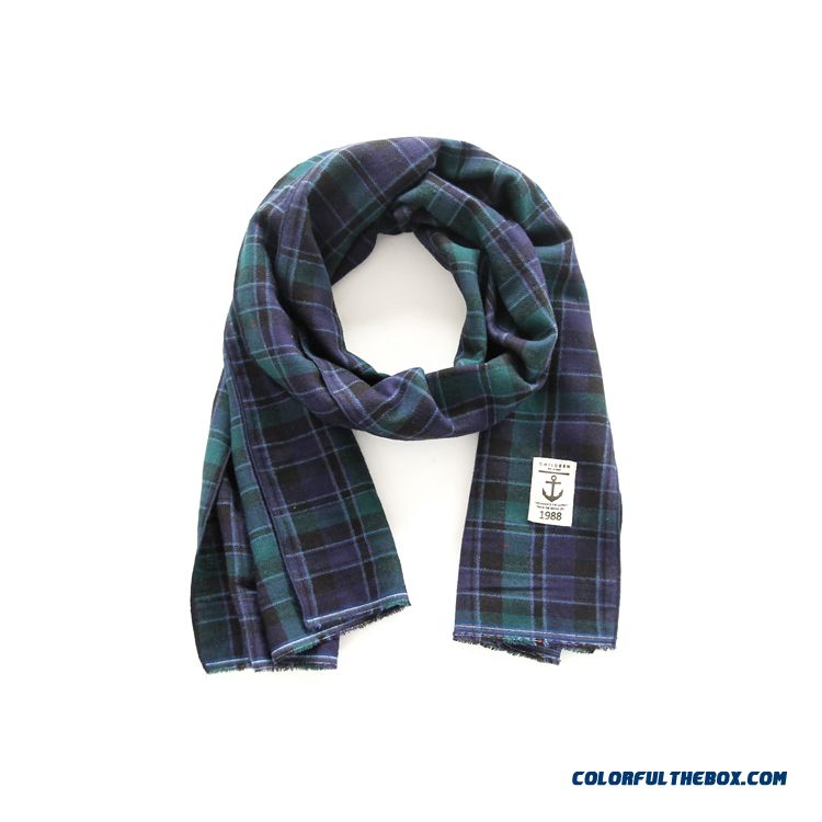 Newest Baby Plaid Neck Scarves All-match Casual Cotton Long Scarves Boy Favorites Accessories 100% Cotton