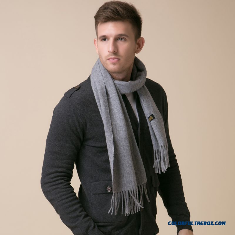 Newest Design Fashionable Accessoriew Winter Korean Version Of Plaid Wool Men Scarf Free Shipping