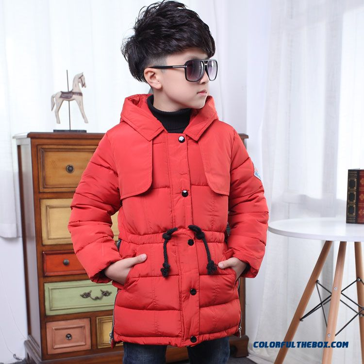 Newest Design Fashionable Beam Waist Cotton Jacket Winter Boy Kids Thicker Coat