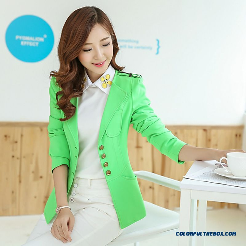 Newest Designe Fashion Slim Temperament Small Suit Plus Size Lady Women Spring Coat