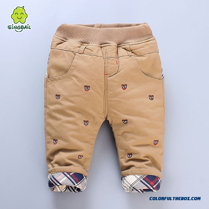 Newest Designe Keep Warm Kids Long Pants Thicker 0-1-2-3 Years Old Boys Clothing - more images 1