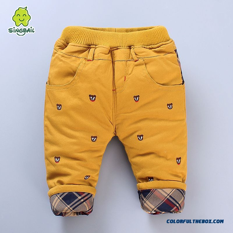 Newest Designe Keep Warm Kids Long Pants Thicker 0-1-2-3 Years Old Boys Clothing - more images 3