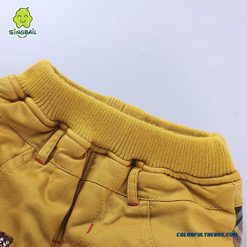 Newest Designe Keep Warm Kids Long Pants Thicker 0-1-2-3 Years Old Boys Clothing - more images 4