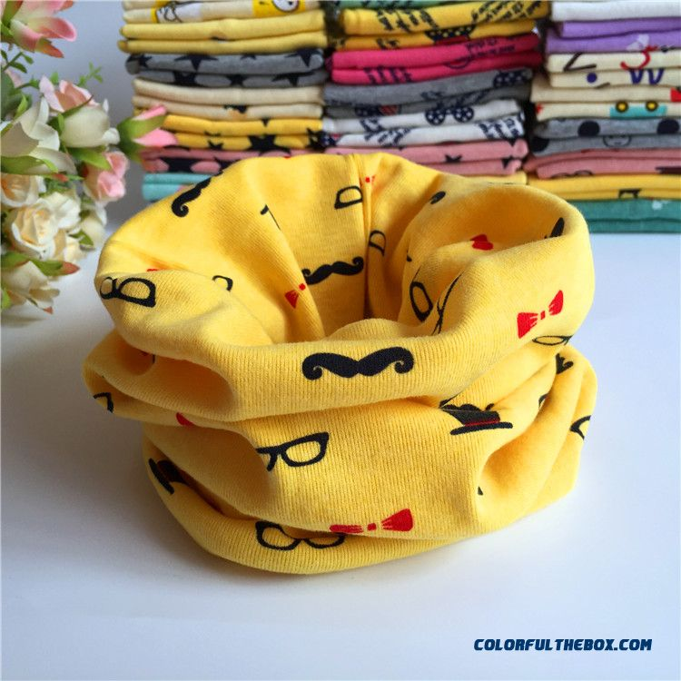 Newest Infant Cotton Babies Neck Scarves Girl's Cartoon Cotton Scarves Neck Wrap