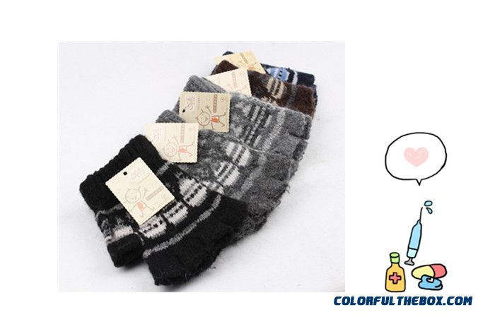 Newest Winter Student Writing Rabbit Wool Half Finger Five Fingers Kids Boys Girls Magic Mittens Accessories So Warm!