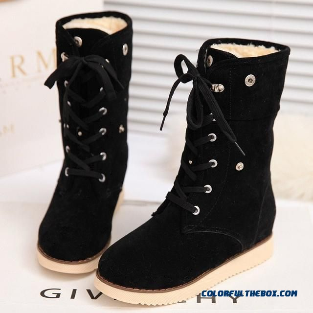 Newly Arrived Nubuck Knee Boots Flat Women's Black Martin Boots Tide