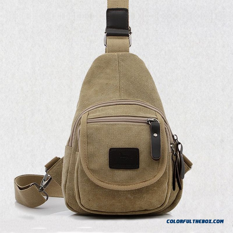 Non-watertight Outdoor Crossbody Bags Canvas Casual Unisex Men Bags
