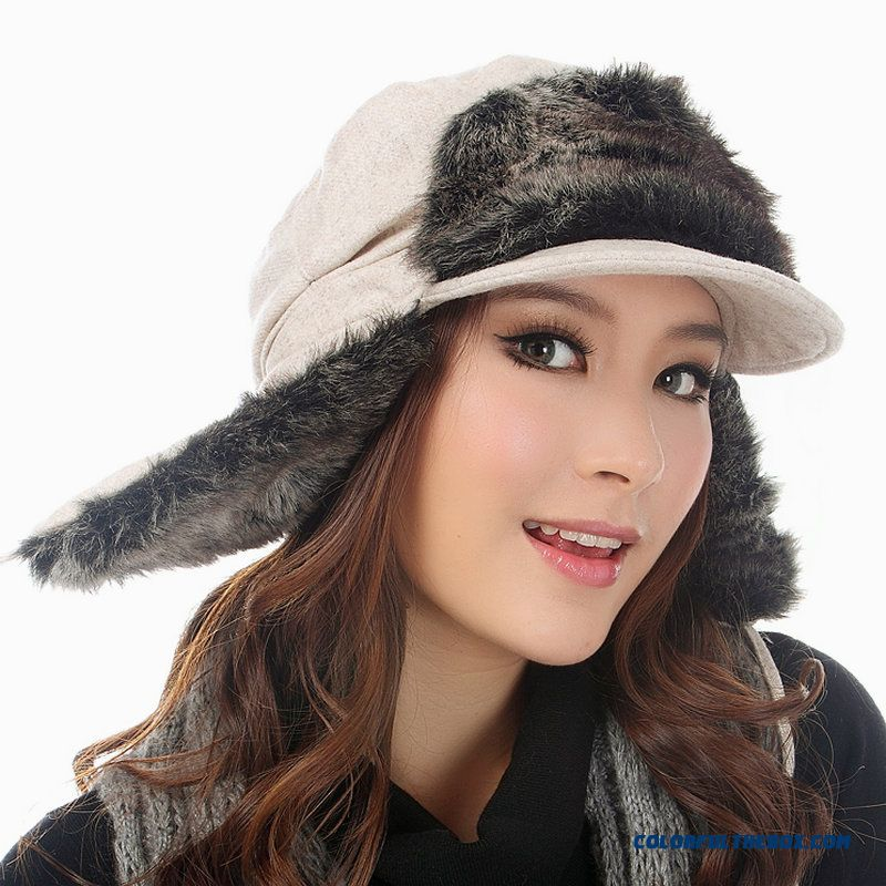 Northeast China Snow Season Ear Protection Lei Feng Cap Winter Women Ski Cap - more images 1