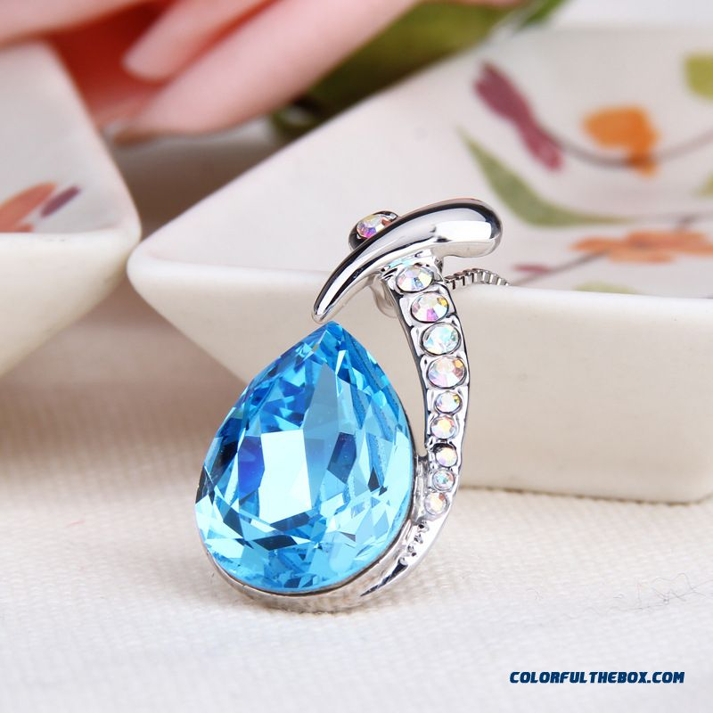 Ocean Heart - Original Factory Whole Salehigh-end European And American Fashion Fine Jewelry Crystal Women Necklace