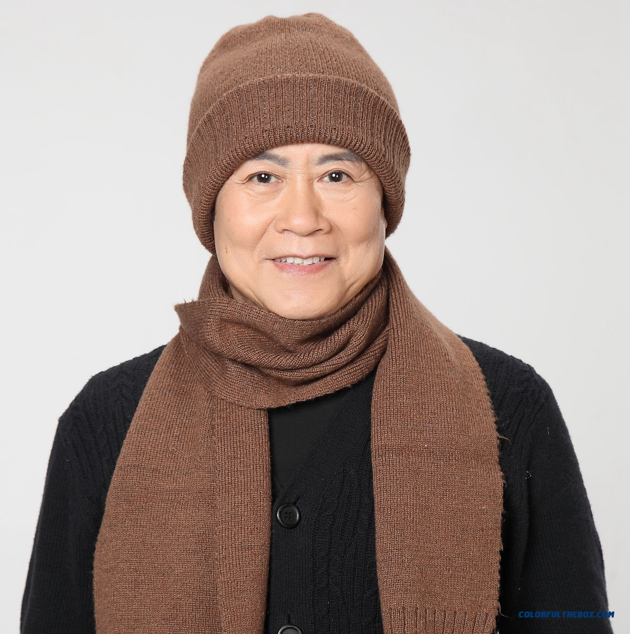 Old People Hat Scarf Set Warm Rabbit Wool High Quality Hat Accessories Cheap Closeout
