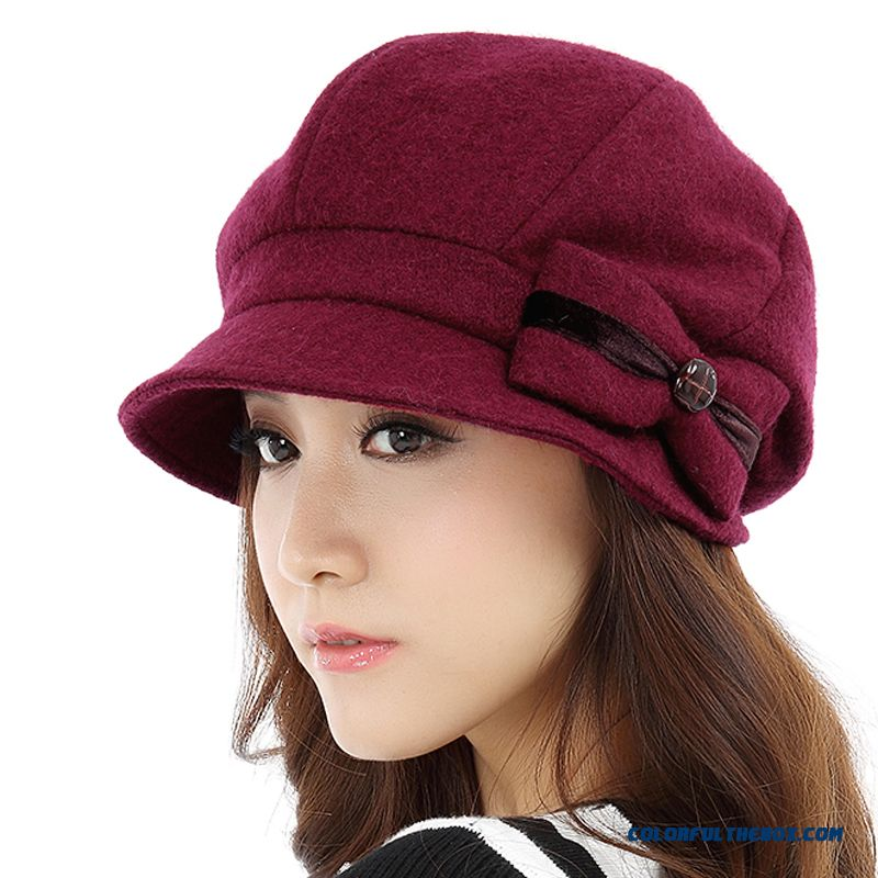 On Sale Of Wool Beret Hat Women Elegant And Warm Fashion Winter 724 Women Accessories
