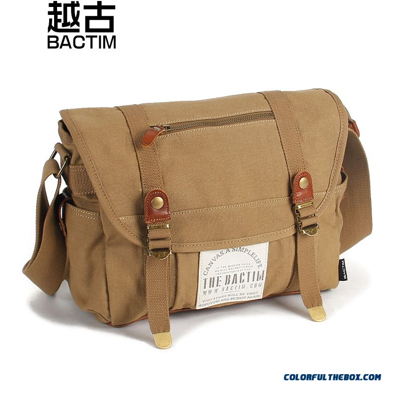 Original Casual Men Canvas Bag Punk Rivet Large-capacity Men's Crossbody Bags
