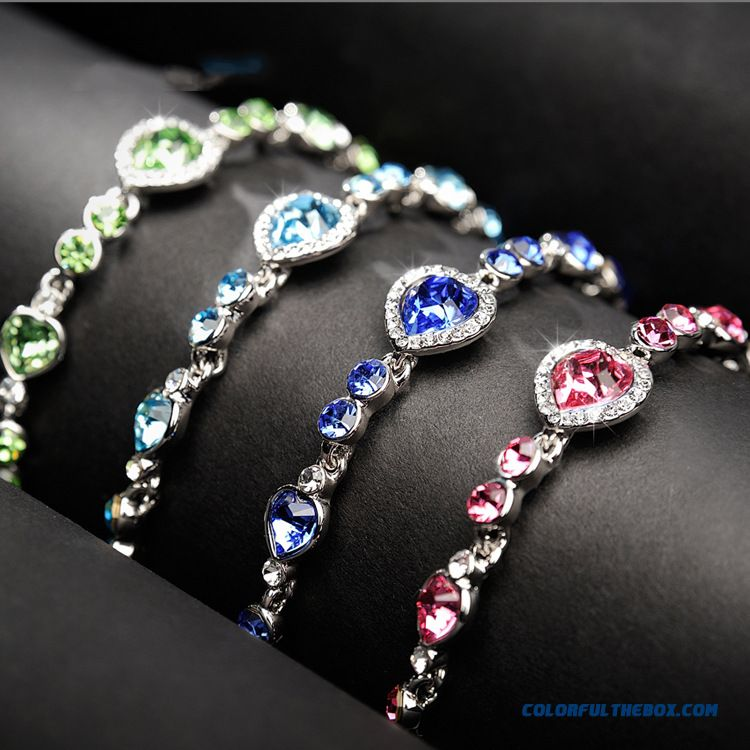 Original Design Bracelet Wholesale Crystal Women Heart Miss Bracelet Fine Jewelry