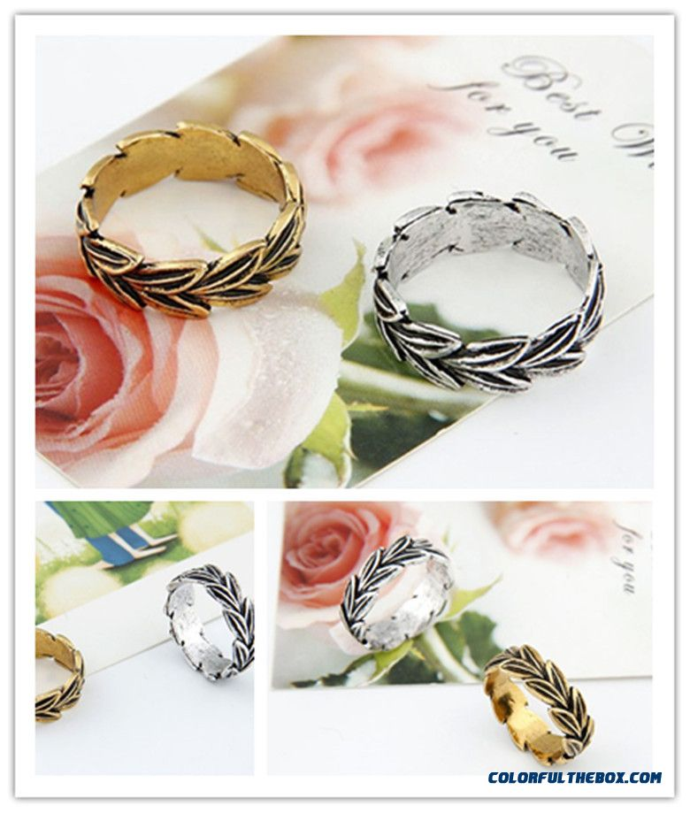 Our Small Fashion Jewelry Bohemia Classical Leaves Personality Ring F109 - more images 1