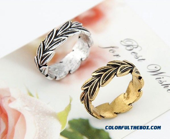 Our Small Fashion Jewelry Bohemia Classical Leaves Personality Ring F109 - more images 2
