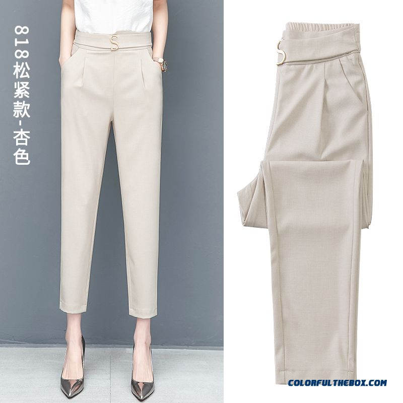 Pants All-match Professional Harlan Women's Loose Skinny High Waist New 2019 Suit Summer Leisure Pants
