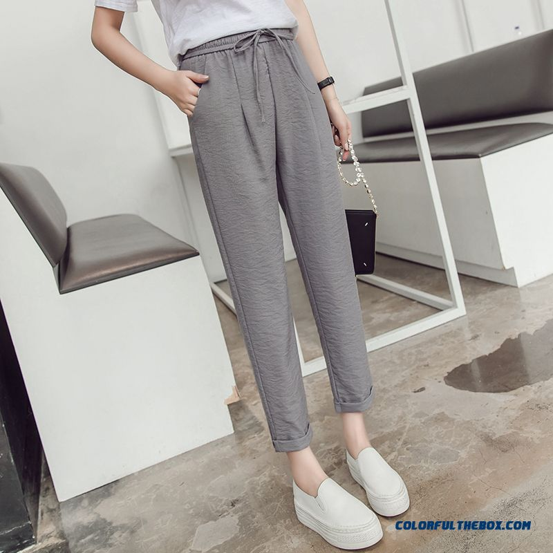 Pants Cotton Women's Ninth Pants Gray Summer Loose 2019 Harlan All-match Europe New Leisure