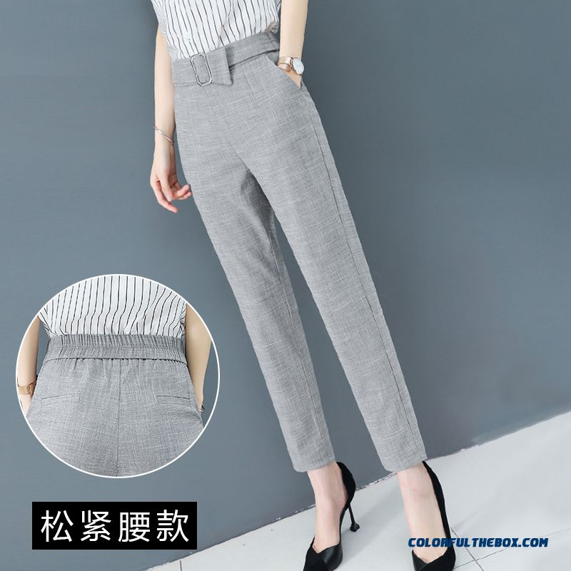 Pants Gray Pants Skinny New Women's Leisure 2019 Professional Fashion Summer Harlan