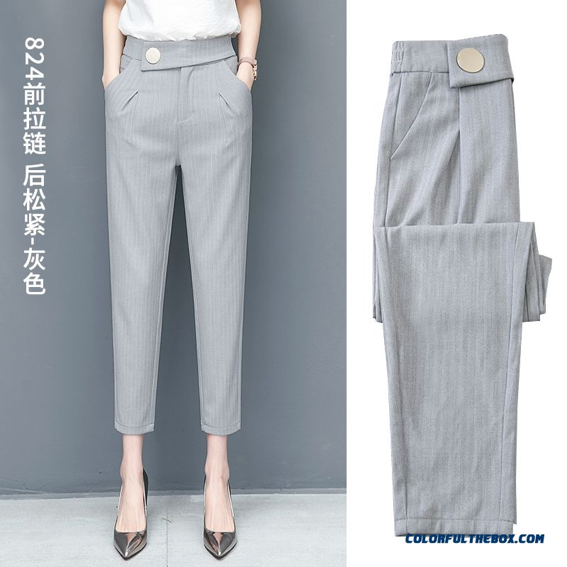 Pants Pants Women's Suit 2019 Harlan Skinny Gray New Loose Fashion Leisure Thin Summer