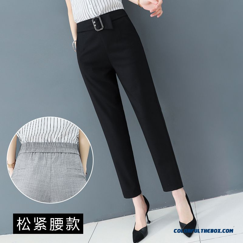 Pants Skinny 2019 Professional Summer Leisure New Black Fashion Women's Pants Harlan