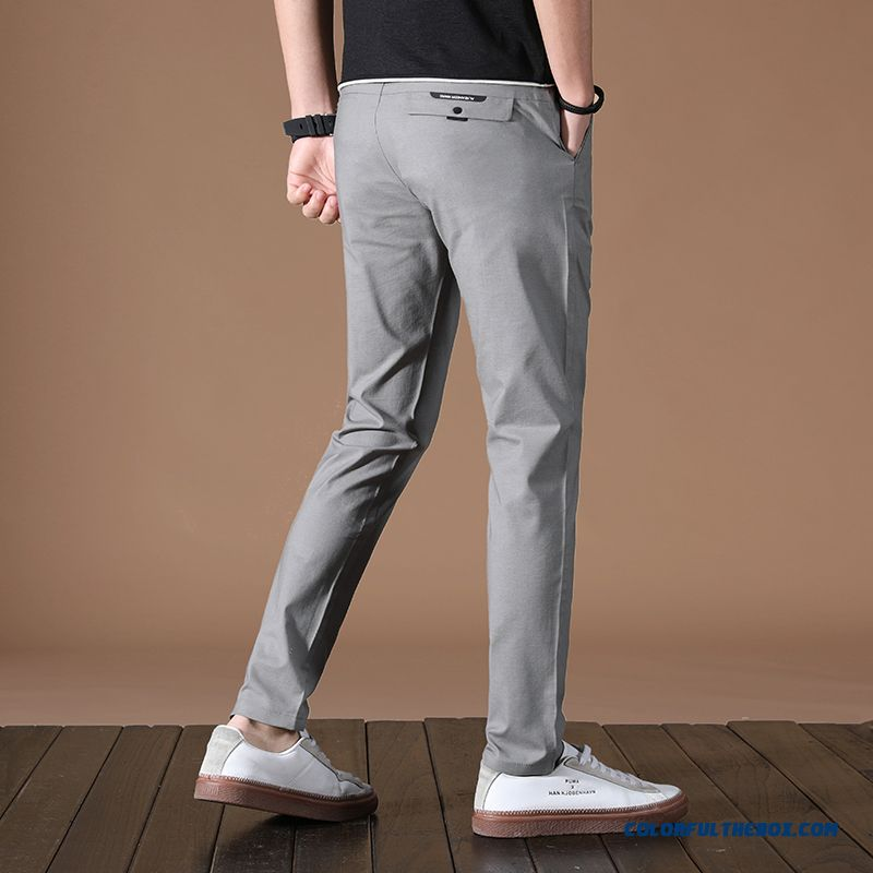 Pants Straight Men's Gray 2019 Trend Europe Leisure Loose Office Summer New Skinny