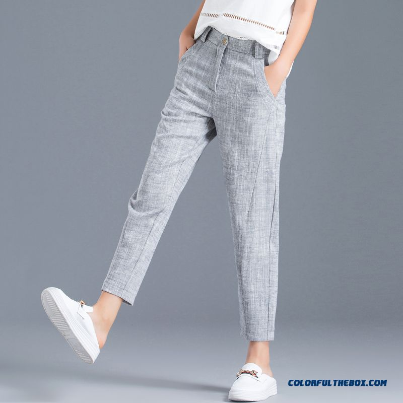 Pants Women's 2019 Gray Skinny Pants Blue Harlan New Cotton Leisure Summer Loose