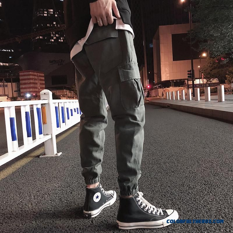 Plus Size 5xl Mens Cargo Pants Big Pockets Fashion Black Men Ankle Banded Pants Casual Soft Sport Pant Summer Autumn Trousers