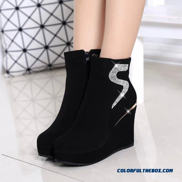Cheap Popular In European And American Wedge Heel Thick Bottom ...