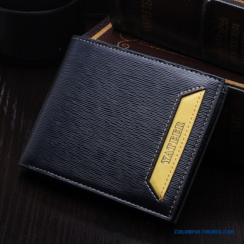 Practical And Convenient Men Shoet Wallets Bags Vertical Section Of Thin Wallet