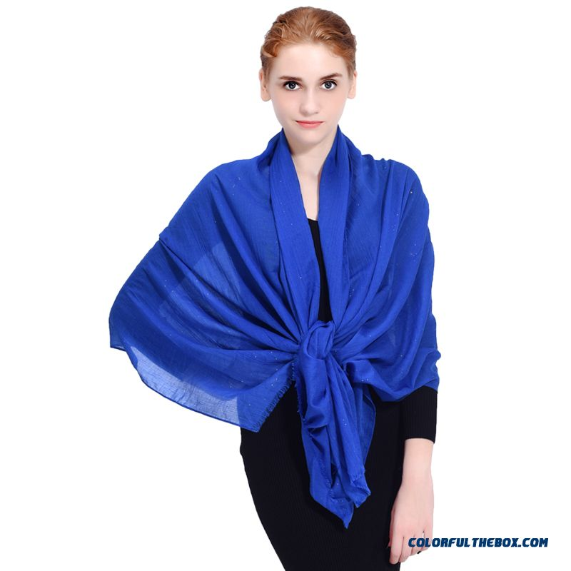 Practical Design 2016 Ladies Autumn New Literary Folds Solid Color Soft Large-sized Women Scarves