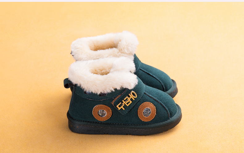 Promotion New Arrival Boy Boots Plus Velvet Warm Boots Slip Baby Girls Shoes Top Quality Comfortable